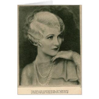 Laura LaPlante 1928 Carte De Vœux