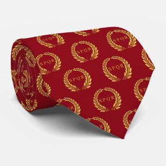 Laurier romain de SPQR modelé Cravate