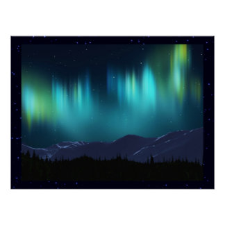 L'aurore Borealis Affiche