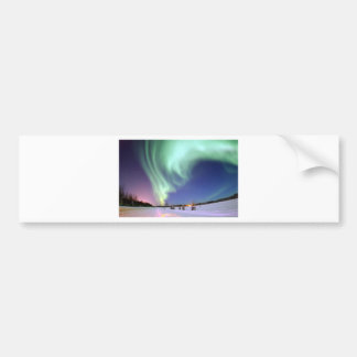 L'aurore Borealis, ou lumières du nord, Alaska Autocollant Pour Voiture