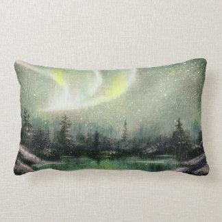 L'aurore Borealis, paysage d'huile de lumières du Oreillers