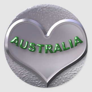 L'AUSTRALIE AUTOCOLLANT ROND
