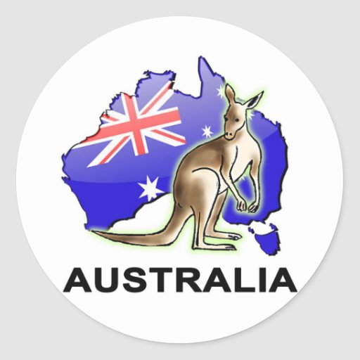 L'Australie Autocollants