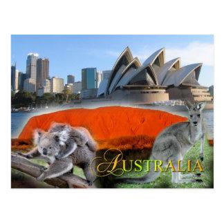 L'Australie diverse Carte Postale