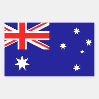 L'Australie : Drapeau d'autocollant de l'Australie Sticker Rectangulaire