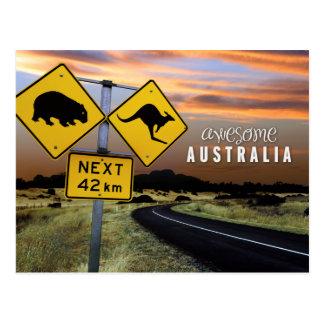 l'australie impressionnante carte postale