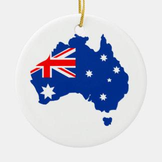 L'Australie Ornement Rond En Céramique