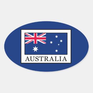 L'Australie Sticker Ovale