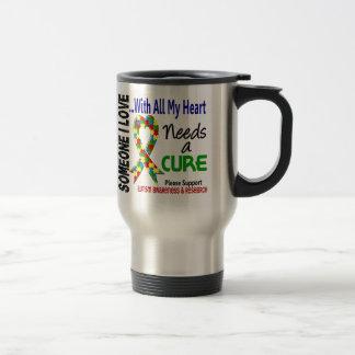 L'autisme a besoin d'un traitement 3 mug de voyage en acier inoxydable
