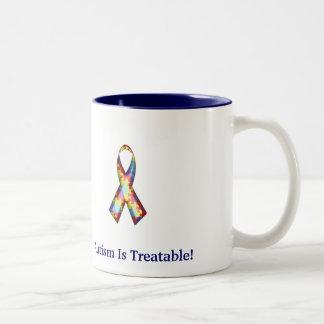 L'autisme est traitable ! mug bicolore
