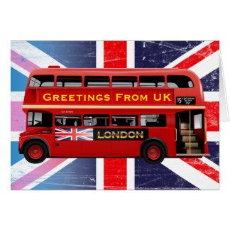 L'autobus rouge célèbre de Londres Carte De Vœux