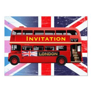 L'autobus rouge célèbre de Londres Carton D'invitation 12,7 Cm X 17,78 Cm