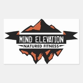 L'autocollant d'altitude d'esprit sticker rectangulaire