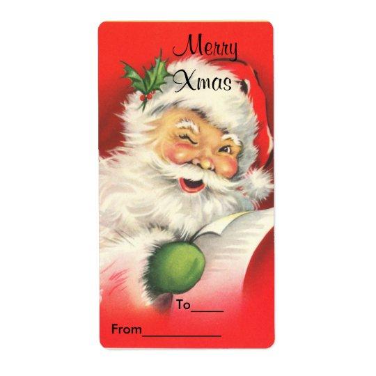 L'autocollant de cadeau de Noël d'étiquette étique Étiquette D'expédition