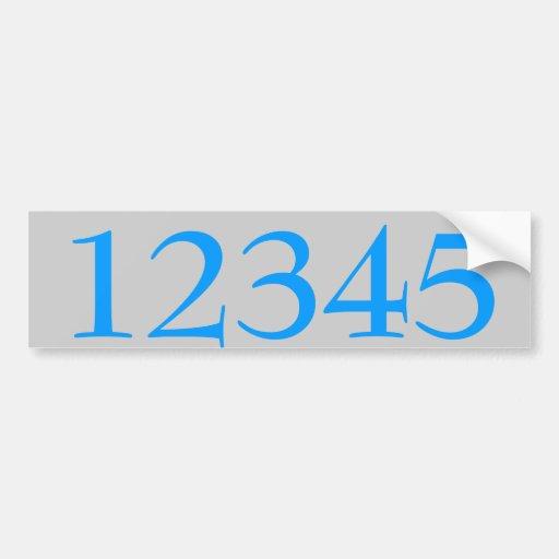 L'autocollant de numéros de maison éditent le text autocollant pour voiture
