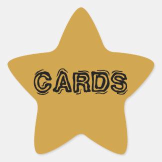 L'autocollant d'étoile marque des cartes sticker étoile