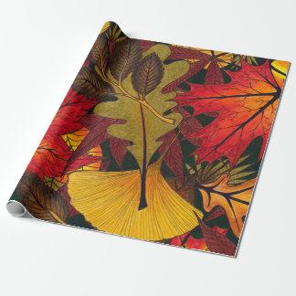 L'automne/automne laisse - le papier d'emballage papier cadeau noël