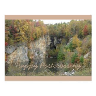 L'automne colore la carte postale de Postcrossing
