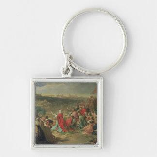 L'automne de Grenade en 1492, 1890 Porte-clé Carré Argenté
