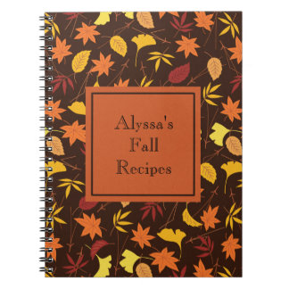 L'automne de jaune orange laisse Brown Carnet