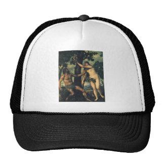 L'automne de l'homme ; Adam et Ève par Titian Casquettes De Camionneur