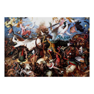 """L'automne de Pieter Bruegel """"des anges rebelles """" Posters"""