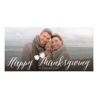 L'automne de thanksgiving laisse le carte photo