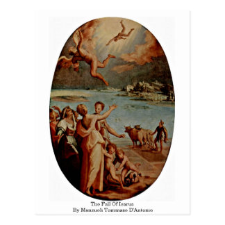 L'automne d'Icare par Manzuoli Tommaso D'Antonio Carte Postale