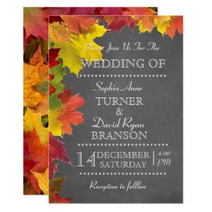 invitations faire part mariage automne personnalis s. Black Bedroom Furniture Sets. Home Design Ideas