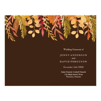 L'automne traditionnel colore des programmes de prospectus 21,6 cm x 24,94 cm