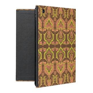 L'automne vintage exotique colore le jaune vert de coque iPad
