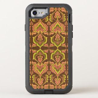 L'automne vintage exotique colore le jaune vert de coque otterbox defender pour iPhone 7