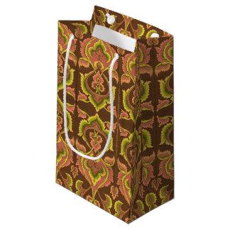 L'automne vintage exotique colore le jaune vert de petit sac cadeau