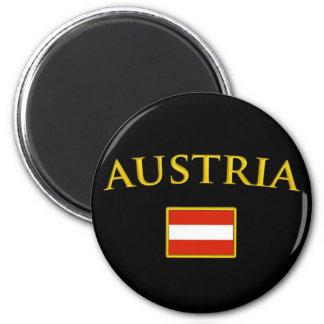 L'Autriche d'or Magnet Rond 8 Cm