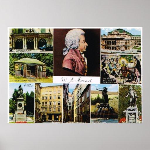 L'Autriche, Mozart, endroits a lié à Mozart Posters