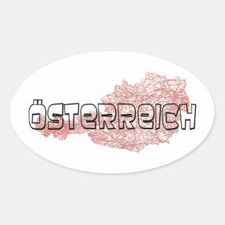L'Autriche Sticker Ovale