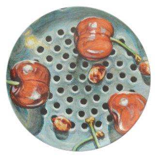 Lavage de cerise assiettes en mélamine