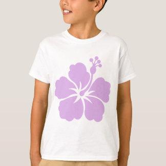 lavande de fleur de ketmie aloha t-shirt
