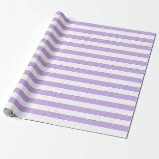 Lavande et rayures blanches papier cadeau