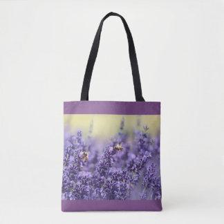 Lavande et sac fourre-tout pourpres à abeilles