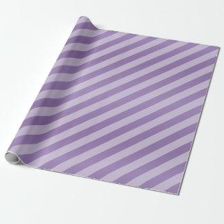 Lavande pourpre et rayures diagonales papier cadeau