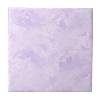 Lavande, subtil, mauve-clair, élégant, pâle petit carreau carré