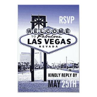 Lavande vintage Las Vegas bleu épousant RSVP Carton D'invitation 8,89 Cm X 12,70 Cm