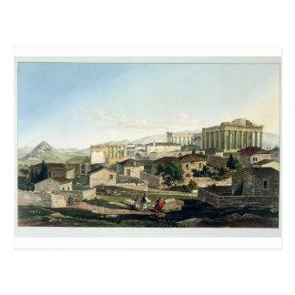 L'avant occidental du parthenon, plaquent 19 du carte postale