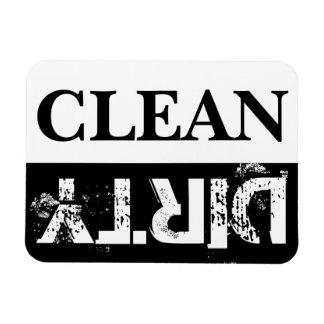 Lave-vaisselle propre et sale magnet rectangulaire