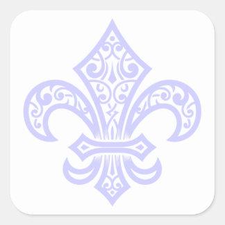 Lavender Fleur de Lis Stickers