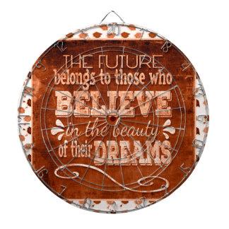 L'avenir appartiennent, croient en rêves de jeux de fléchettes