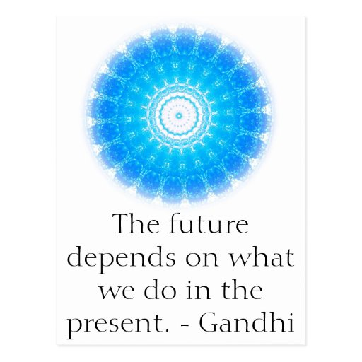 L'avenir dépend de ce que nous faisons dans le pré carte postale