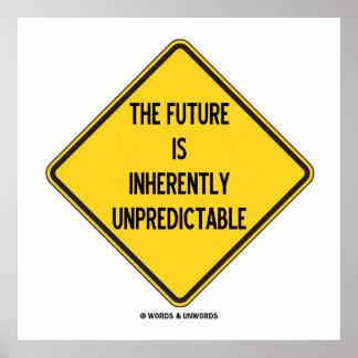 L'avenir est signe en soi imprévisible poster