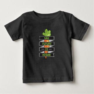 L'avenir est végétalien t-shirt pour bébé